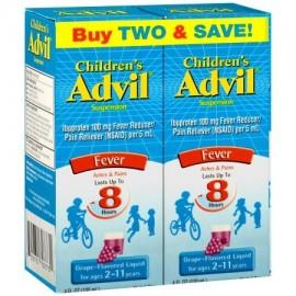 Advil ® Suspensión infantil líquido reductor de la fiebre - Analgésico (Ibuprofen) 2-Pack en Grape Flavor 100 mg 2-4 fl. onz