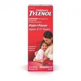 TYLENOL® suspensión oral de los niños reductor de la fiebre y Analgésico fresa 4 fl oz