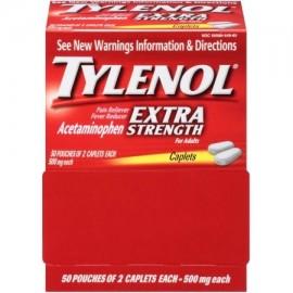 TYLENOL Extra Strength analgésico y reductor de la fiebre cápsulas de dos componentes ea 50 (Pack de 2)