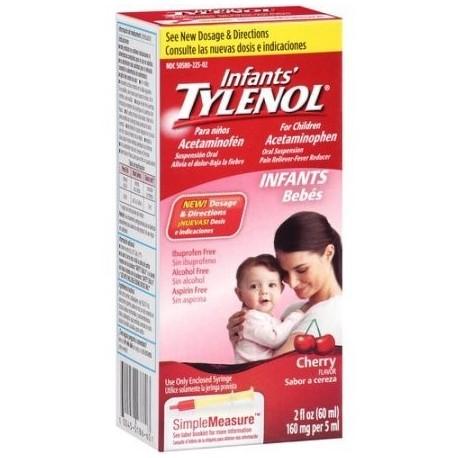 TYLENOL Suspensión Infants' ® Oral reductor de la fiebre y Analgésico Cherry 1 fl oz