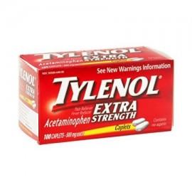 Tylenol Extra Strength analgésico y reductor de la fiebre 500 mg Comprimidos 100 Cada