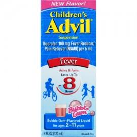 Advil Suspensión infantil líquido reductor de la fiebre - Analgésico chicle con sabor 40 onzas líquidas