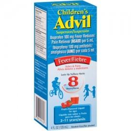 Advil ® suspensión líquida infantil reductor de la fiebre - Analgésico (Ibuprofen) en sabor de la fruta 100 mg 4 fl. onz. C