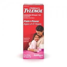 TYLENOL® suspensión oral de los niños reductor de la fiebre y Analgésico Bubblegum 4 fl oz
