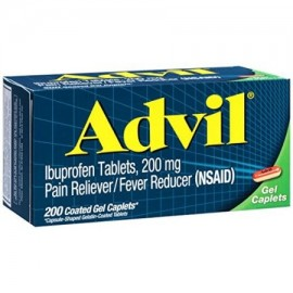 Advil analgésico - reductor de la fiebre Coated Gel Caplet 200 mg de ibuprofeno un alivio temporal del dolor (200 COUNT)