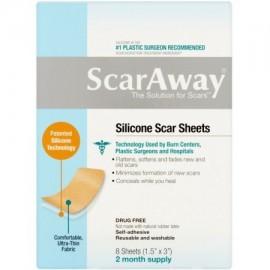 """ScarAway láminas de silicona Scar (15"""" x 3"""" ) 8 ct"""