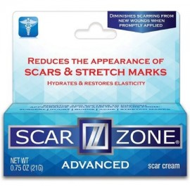 Scar Zone avanzada Cuidado de la piel Scar Cream 0.75 oz (paquete de 6)