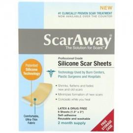 """Hojas de silicona de grado profesional de tratamiento de cicatriz de 15"""" x 3"""" 8-Conde buque de EE.UU. ScarAway Marca"""