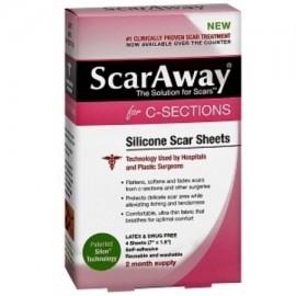 ScarAway para C-Secciones silicona Scar Hojas 4 ea (Pack de 3)