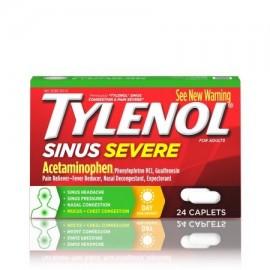 TYLENOL congestión nasal y dolor severos Cápsulas 24 Conde
