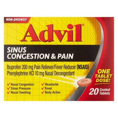 Advil Sinus Congestion y Analgésico 20 ct