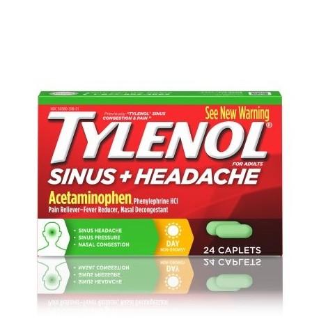 TYLENOL congestión nasal y dolor de cápsulas durante el día 24 Conteo