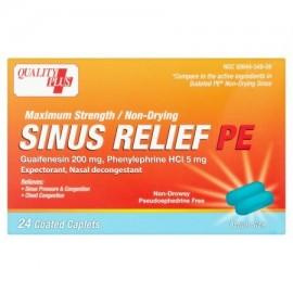 QUALITY PLUS Sinus Relief PE cápsulas recubiertas 24 piezas