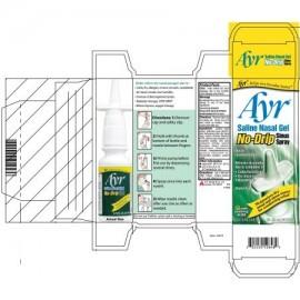 Ayr Saline Nasal Gel anti-goteo sinusal aerosol 075 onzas líquidas