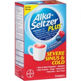 Alka-Seltzer Plus Berry Fusión sinusal severa y fría Multi-Symptom Relief paquetes 6 ct
