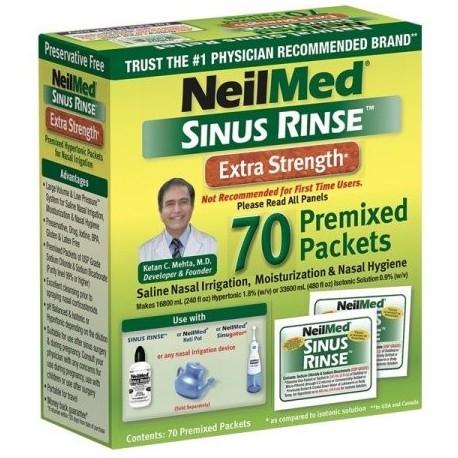 Neilmed hipertónicas Sinus Rinse paquetes 70 Ct