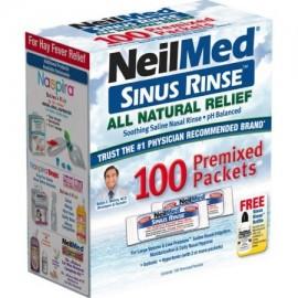 Neilmed Sinus Enjuague todas Naturales Alivio premezcladas de recarga paquetes 100 cada uno