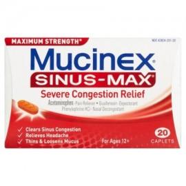Mucinex senos de socorro Max-Sever congestión 20 de recuento