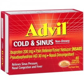 Advil ® Cold -amp- Sinus no causa somnolencia analgésico - antipirético y descongestionantes cápsulas recubiertas Box 40 ct