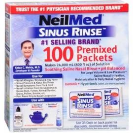 Neilmed Sinus Rinse premezcladas de recarga paquetes 100 cada uno (paquete de 4)