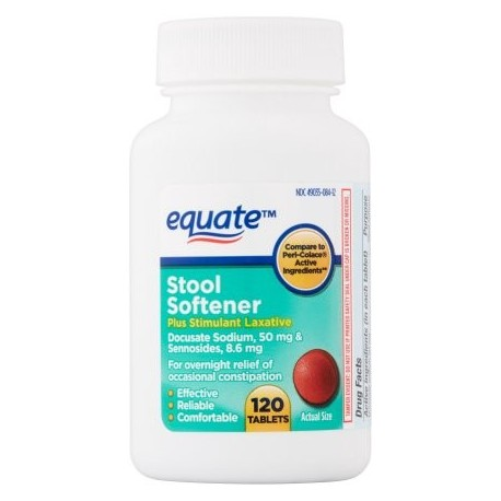 equate ablandador de heces Tablets 50 mg 120 ct