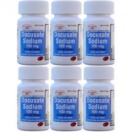 Docusato de sodio 100 mg 600 Softgels genérico para Colace Softgels para Gentle Alivio fiable de estreñimiento ocasional