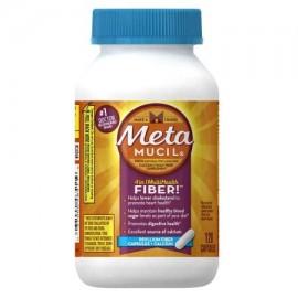 Meta Mucil 4 en 1 MultiHealth fibra- Cápsulas fibra de psyllium - Calcio 120 recuento