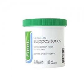- Glicerina supositorios laxantes Jar para adultos 100 cada uno para un alivio rápido y suave de estreñimiento ocasional Por F