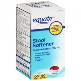 equate Stool Softener cápsulas 100 mg 60 ct