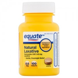 equate Laxante vegetales naturales 86 mg 100 ct