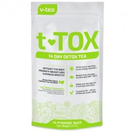 VTEA 14 Día de desintoxicación té Teatox- Limpiar aumentar la energía promover la pérdida de peso reducir el estreñimiento