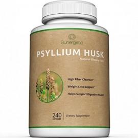El psyllium prima de cáscara Cápsulas - 725 mg por cápsula -240 cápsulas - Potente cáscara de psyllium fibra suplemento ayu
