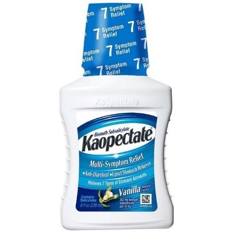 Kaopectate Multi-Symptom Relief antidiarreicos - malestar estomacal Reliever Liquid Vainilla 8 oz (Pack de 4)