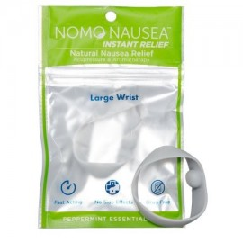 NoMo Nausea alivio instantáneo grandes aromaterapia Gris Bandas contra las náuseas con acupresión