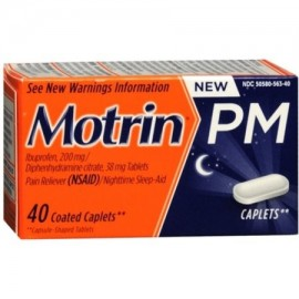 Motrin PM Coated Caplets 40 ea (Pack de 3)