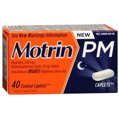 Motrin PM Coated Caplets 40 ea (Pack de 4)