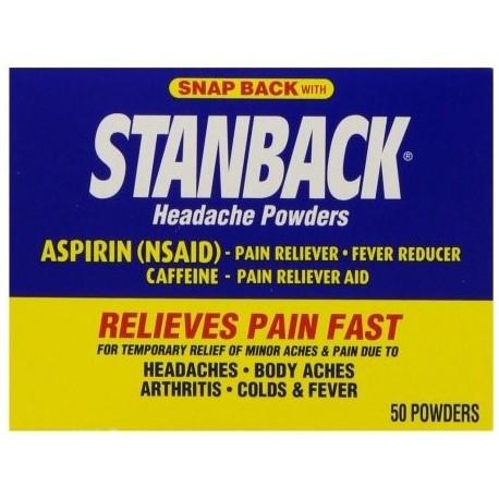 Stanback Dolor de cabeza Polvos 50 Cada (Pack de 2)