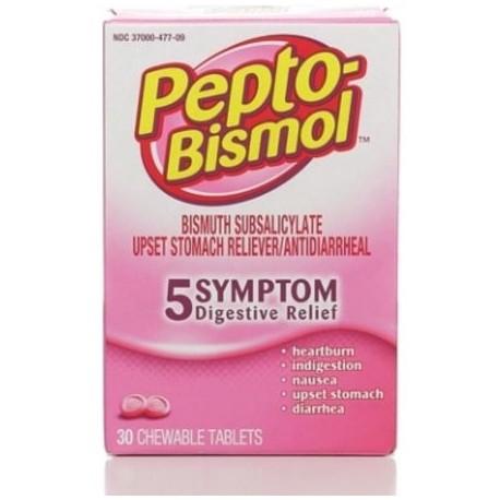 Pepto-Bismol tabletas masticables original 30 ea (paquete de 4)