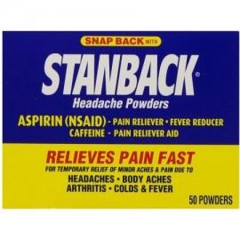 Stanback Dolor de cabeza Polvos 50 Cada (Pack de 4)