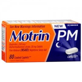 Motrin PM Coated Caplets 80 Caplets (Pack de 2)