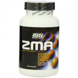 ISS ZMA Cápsulas Anabolic Mineral Fórmula textuales Botellas 90-Count