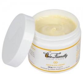 Mejor Rostro y Ojos Hidratante 100% natural y 85% orgánica de la cara y de los ojos Crema Por BeeFriendly Deep Moisturizing tod