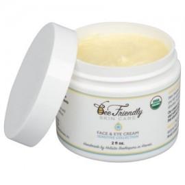 USDA Certified Organic Cara y Hidratante Ojos Por BeeFriendly Sensible Colección - Hidratación Profunda todo en uno de la cara