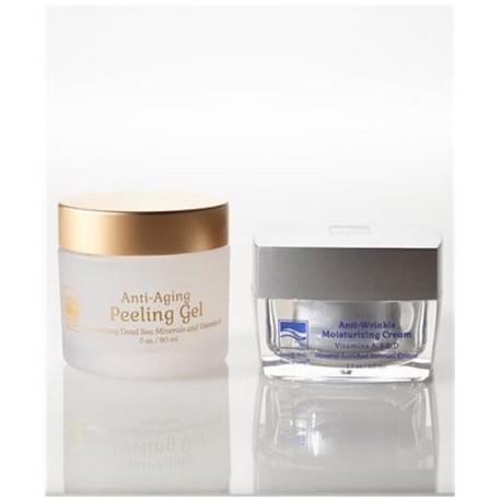 Dead Sea Spa Care deadsea-1020 17 oz Anti arrugas Crema 3 oz New Anti-envejecimiento Peeling Gel