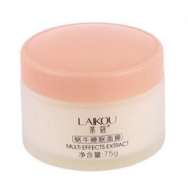LAIKOU NO lavado de caracol Dormir Máscara Crema hidratante Esencia Noche crema contra el envejecimiento Anti arrugas crema fac