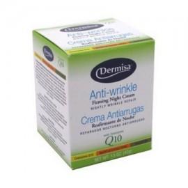 Crema Antiarrugas Noche Dermisa Con alfa hidroxi ácidos y Coenzima Q10 - 1.5 Oz paquete de 2