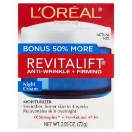 L'Oréal Paris Revitalift Antiarrugas - Hidratante Reafirmante Crema de Noche 255 oz