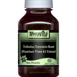 Extra Strength Tribulus terrestris Root 4- 1 Extracto (punción Vine) Polvo (4 oz ZIN- 511103)