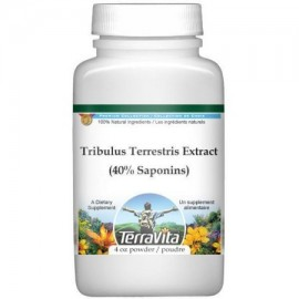 Tribulus terrestris extracto (Puncture Vine) (40% de saponinas) Polvo (4 oz ZIN- 514324)