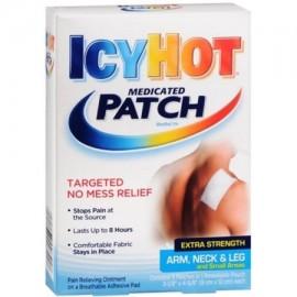 Icy Hot parches medicados Fuerza Extra Pequeño (brazo cuello piernas) 5 cada uno (paquete de 6)